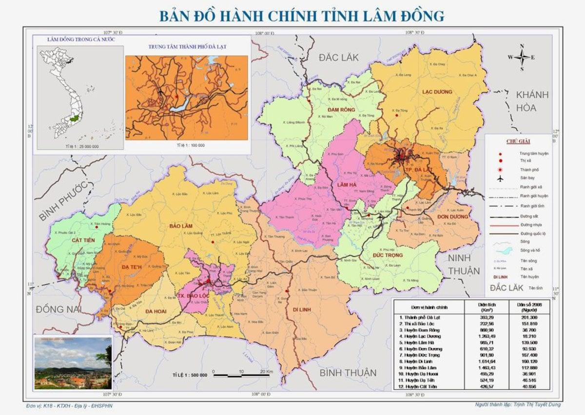 Thông tin quy hoạch tỉnh Lâm Đồng