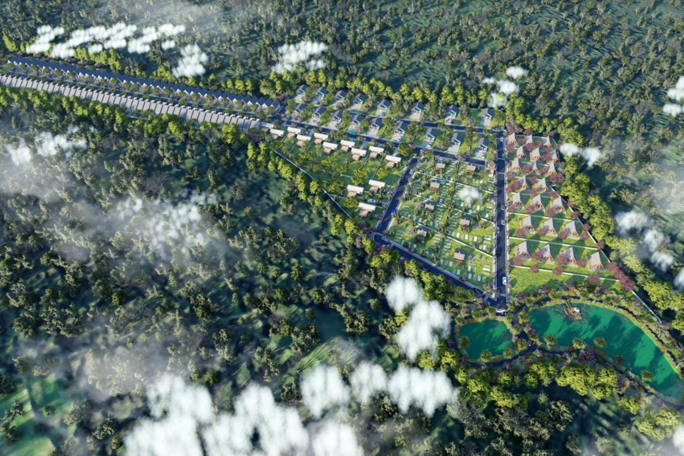 Phối cảnh tổng thểBảo Lộc Gems Paradise