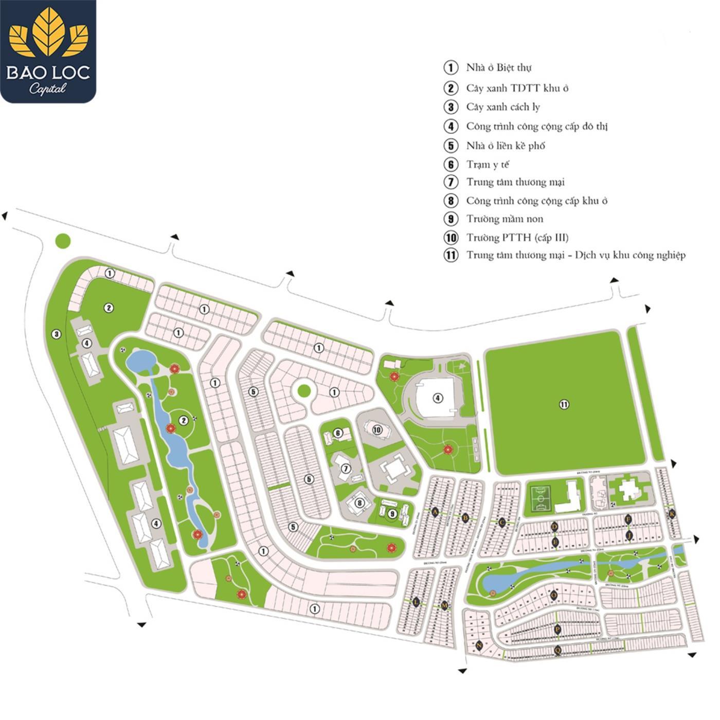 Các phân khu chức năng của Bảo Lộc Capital