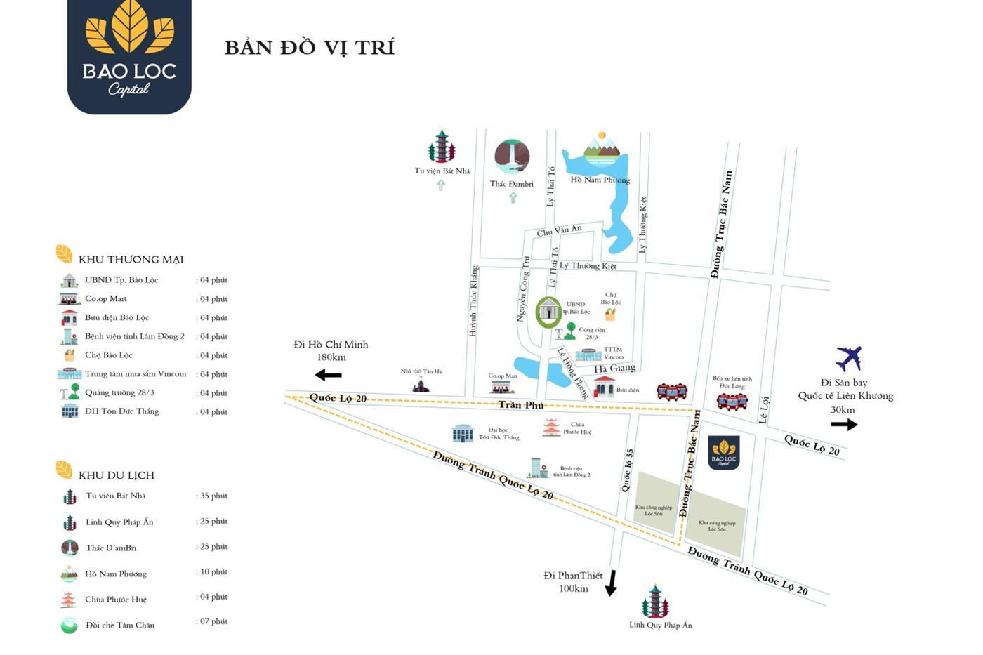 Vị trí khu đô thịBảo Lộc Capital
