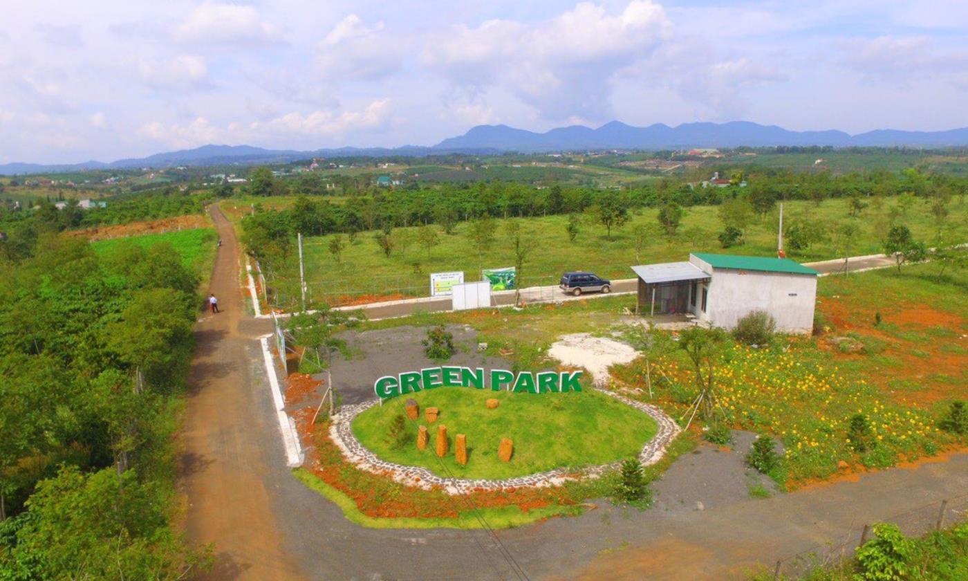 Cổng vào khu biệt thự Green Park Bảo Lộc