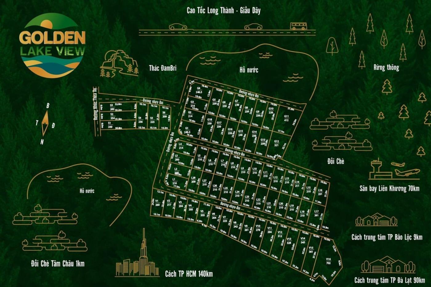 Mặt bằng tổng thể khu nghỉ dưỡng Golden Lake View