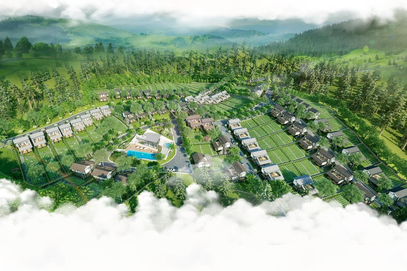 Tổng thể khu nghỉ dưỡng Panamera Bảo Lộc