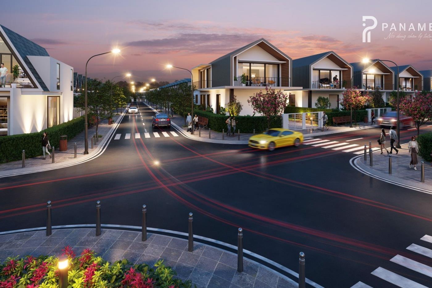 Đường nội khu rông rãi Panamera Bảo Lộc